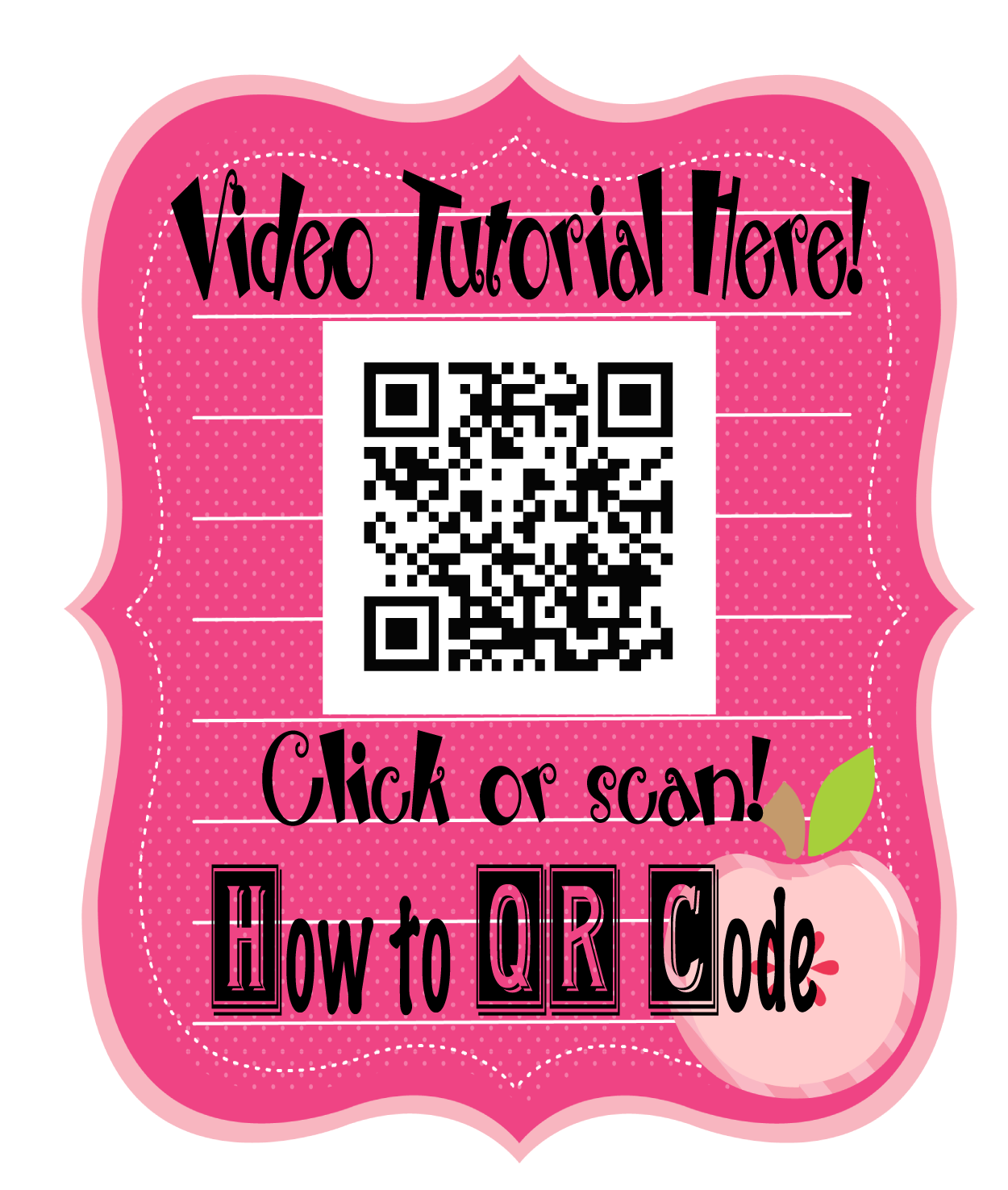 How to QR Code Video Tutorial