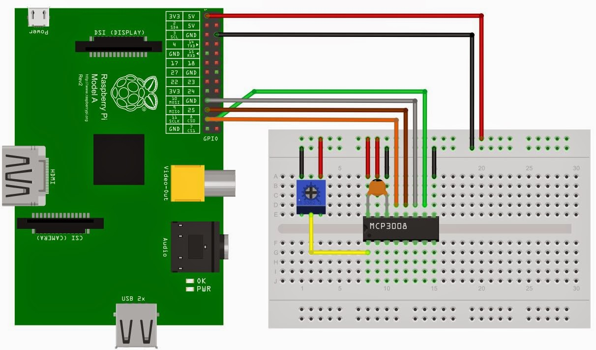 Raspberry Pi Potentiometer Wiring Diagram Electrical For A 10k Diagrams The Charmer Mcp3008 With Pot On Using Spi Chassis