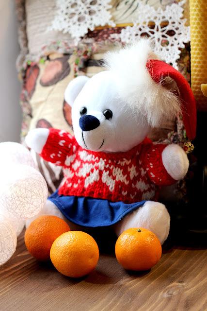 Новогодняя одежда для игрушки мишки