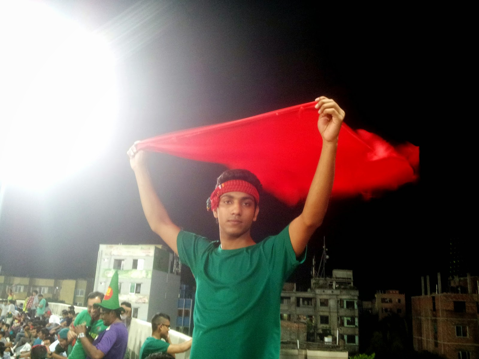 Labib with Red & Green at Stadium