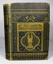 1880 Antique KING ARTHUR Knight MERLIN Magic Sword HOLY GRAIL Decorative Binding