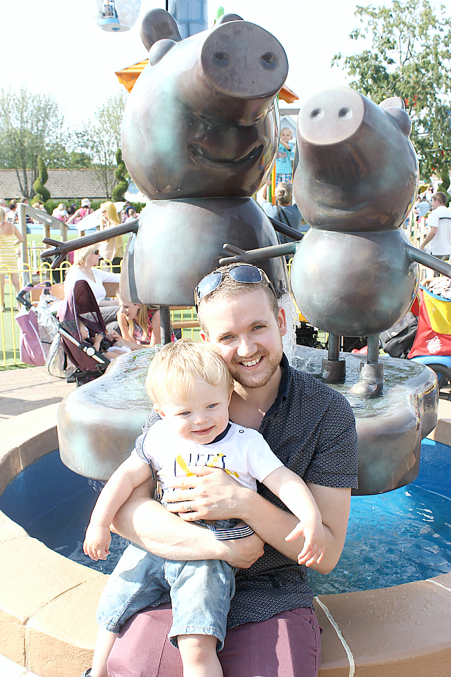 peppa pig world, peppa pig, paultons park, 15 month old