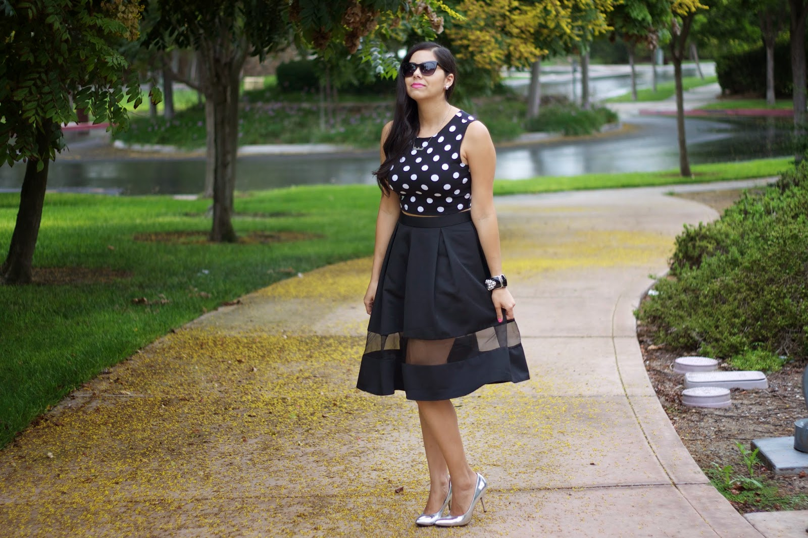 Crop and Midi Outfit idea, bloggers wearing crop and midi, bloggers wearing full midi skirt, san diego street style, street style bloggers in midi skirts, street style bloggers in crop tops