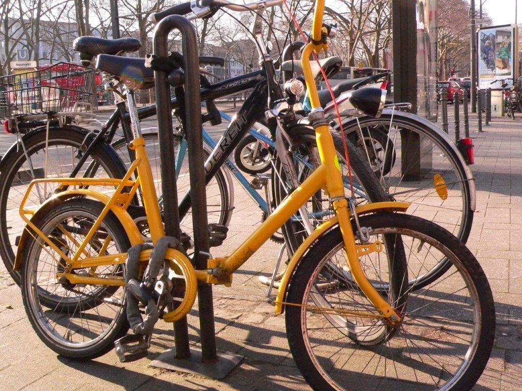 Klappfahrrad Klapprad gelb Fahrrad Köln Blogparade Rad radeln fietsen