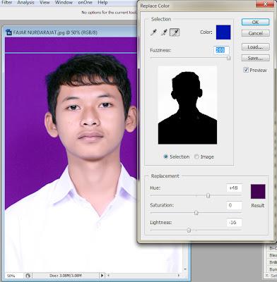 5x Mengganti warna latar pada pas foto