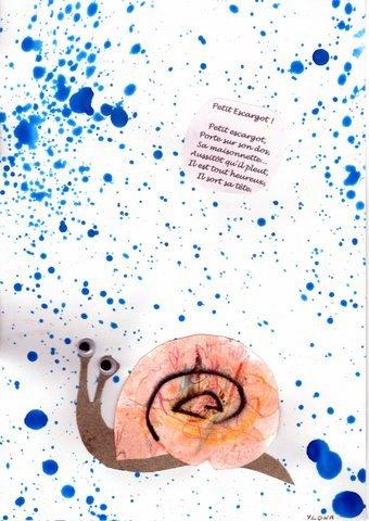 Les petites t tes de l 39 art petit escargot porte sur sur - Parole petit escargot porte sur son dos ...