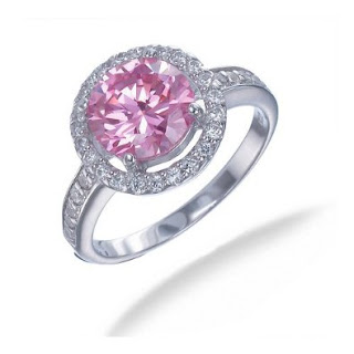 2.50 CT Pink and White CZ Ring in Sterling Silver In Size 5 (Available In Sizes 5-9)