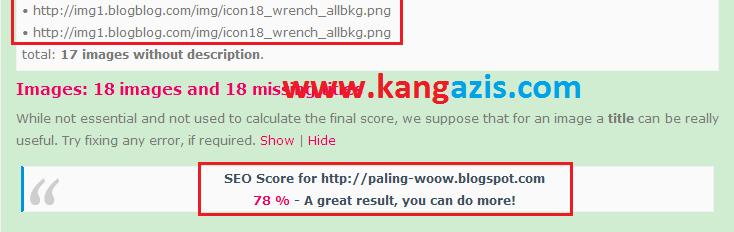 Cara Cek Score SEO Blog