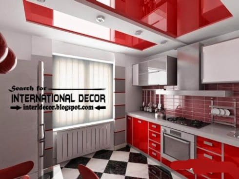 modern kitchen ceiling designs ideas tiles lights, stretch ceiling for kitchen
