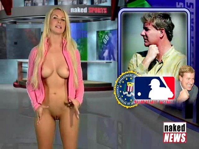 Reporters de télévision nues