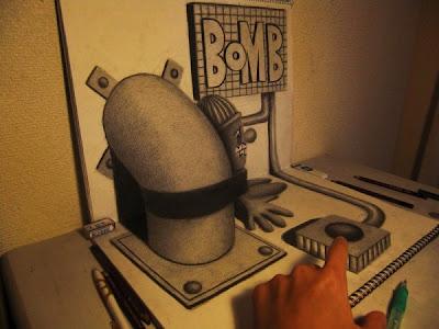 Bomba (Dibujo 3D)