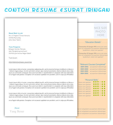 set lengkap contoh resume dan surat iringan review ebooks