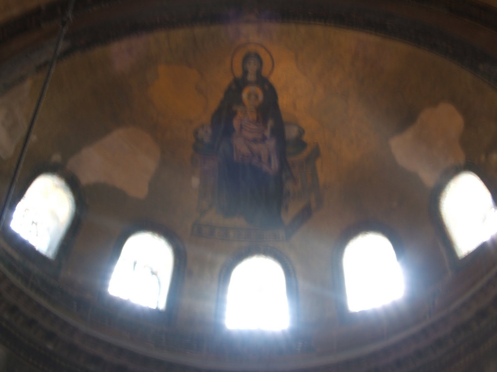 Madonna and Child, Ayasophia church- Istanbul, Turkey