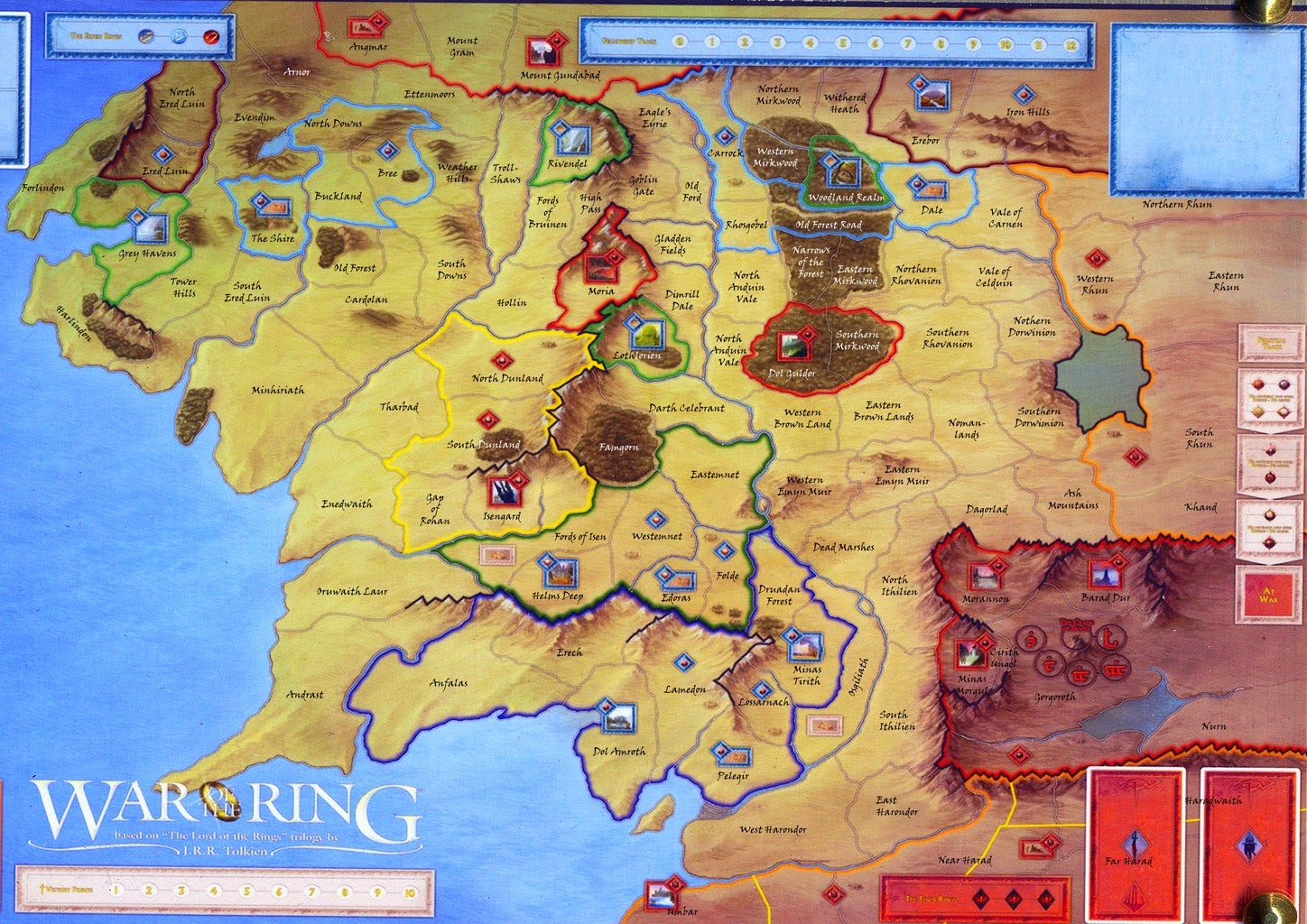 Warlord 39 s War of the Ring Blog War of the RIng Map Campaign