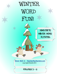 photo of Winter Word Fun PDF, winter