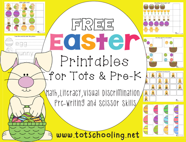 Free Easter Printables for Toddlers and PreK | Totschooling ...
