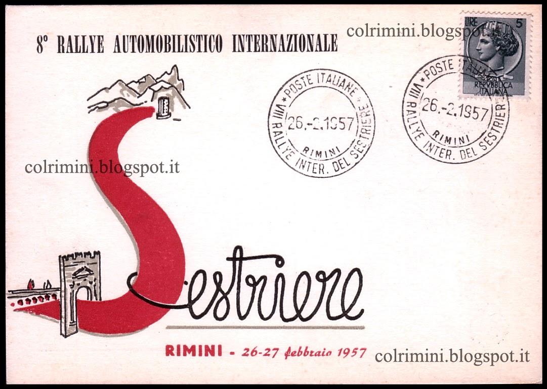 ColRimini - Collezionare Rimini: 1957 - 8° Rallye internazionale ...