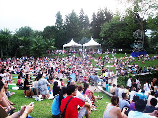 an event happening at the botanic gardens singapore