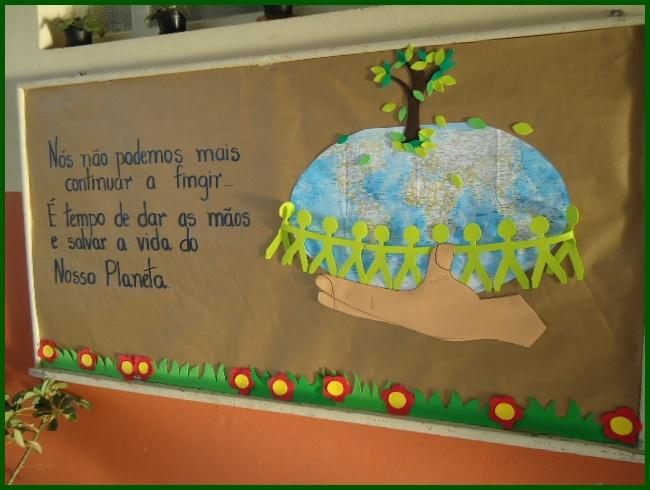 A escola da fam lia painel meio ambiente for Mural sobre o meio ambiente