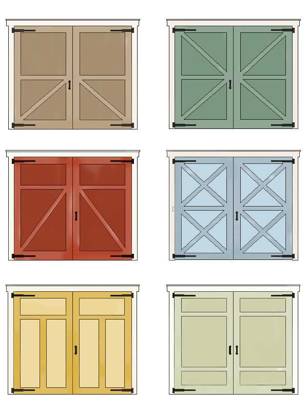 Domestic tranquility faux carriage doors for Domestic front doors