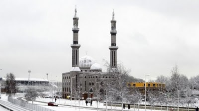 Photographs of Essalam mosque in Rotterdam