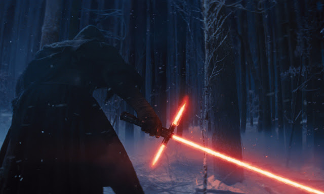 Kylo Ren has daddy issues, and a killer lightsaber