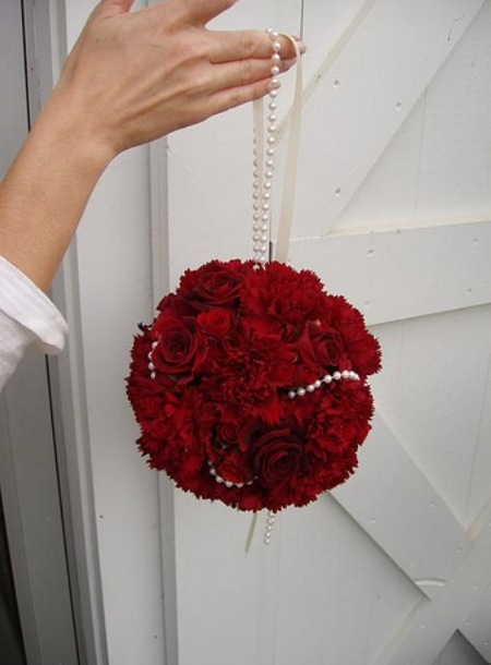 Как сделать шар для свадебного букета