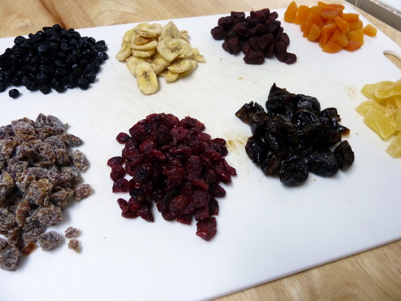 dried dates fruit. I chopped up the fruit that