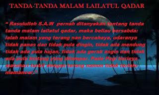Ciri Tanda Tanda Malam Lailatu Qadar Di Bulan Ramadhan