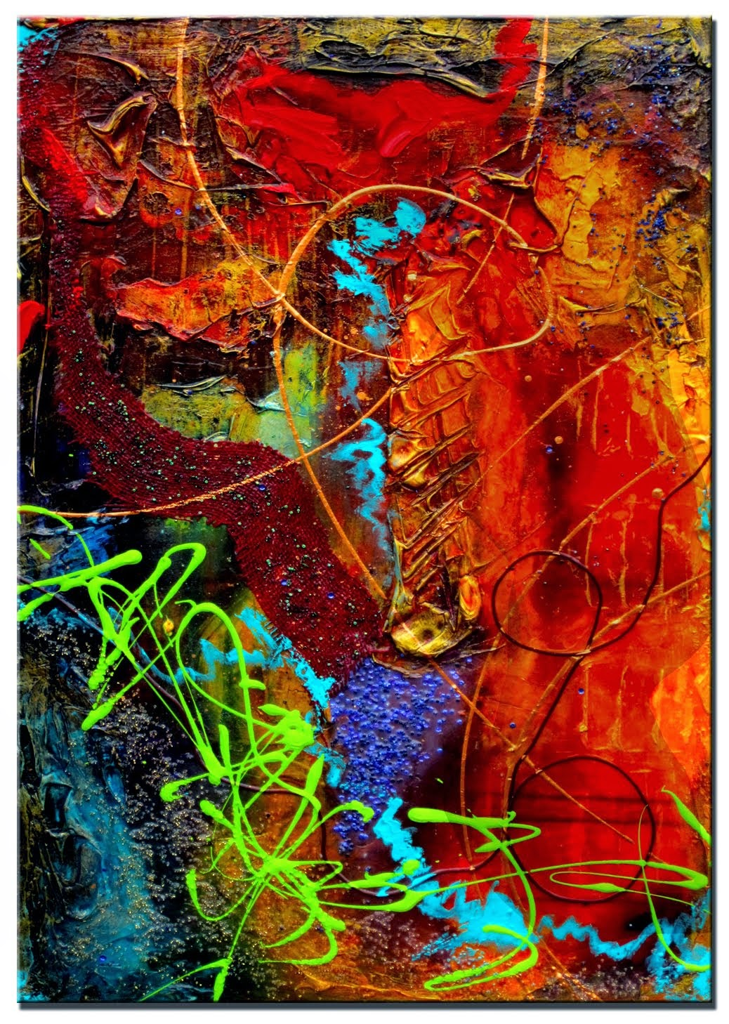 "Abstract Painting ""Vibrancy"" by Dora Woodrum"