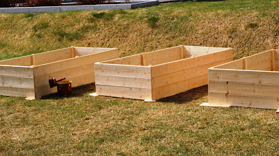 Bygga odlingslådor tryckimpregnerat