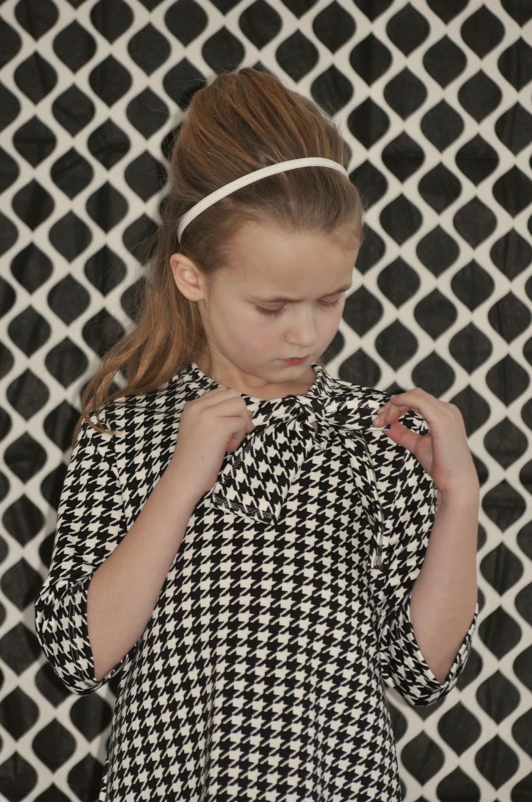 houndstooth DIY kinderjurk workshop naaien sewing fabric pied de poule