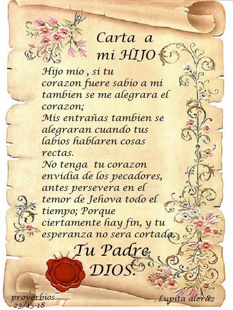Carta De Padre Para MI Hijo