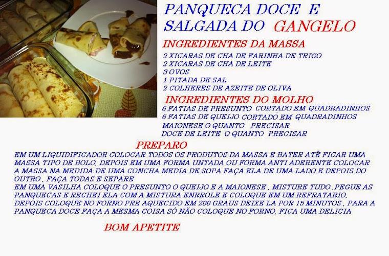 PANQUECA DOCE E SALGADA