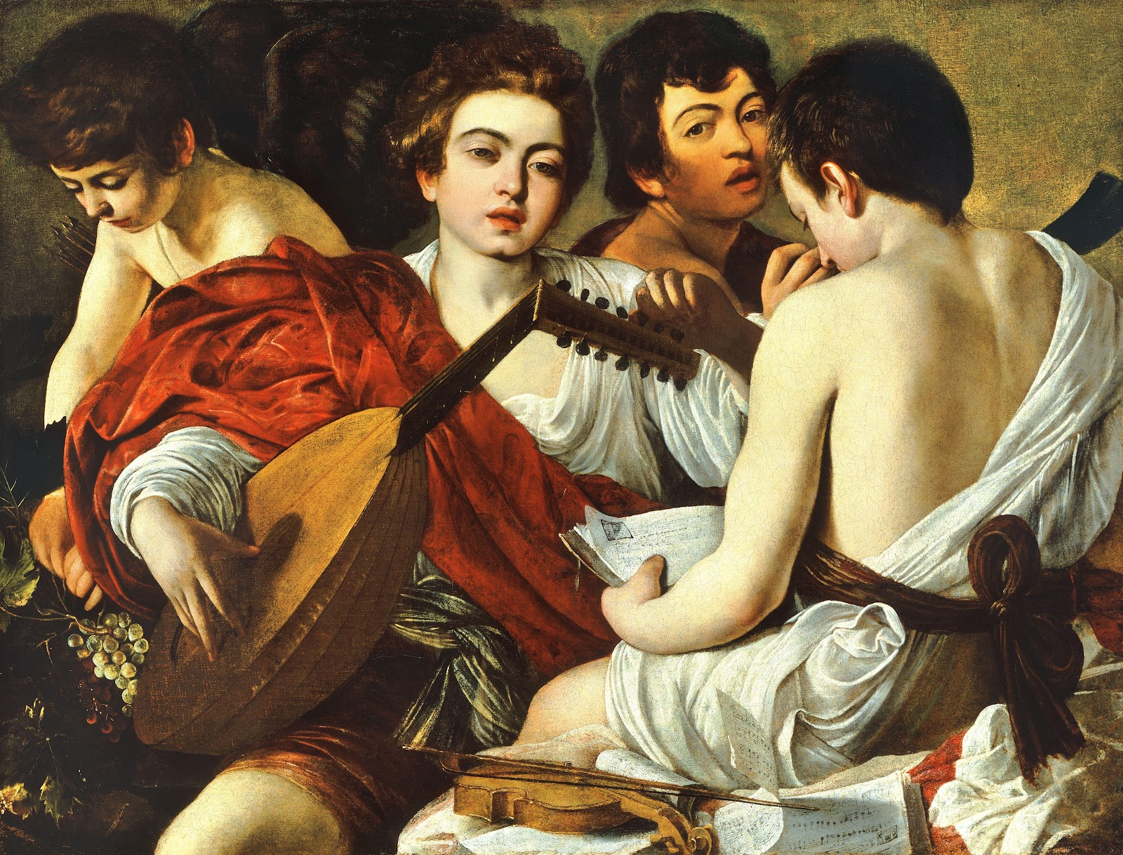caravage musicians painting