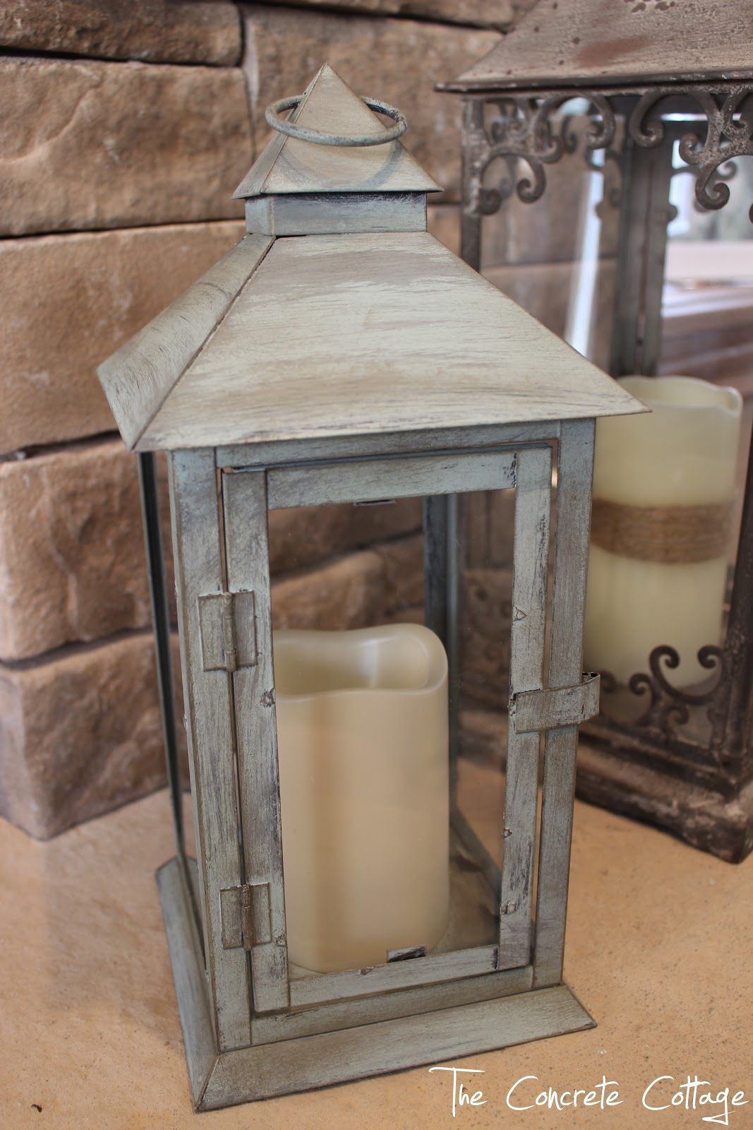 The concrete cottage metal lantern revamp with chalk paint wax arubaitofo Choice Image