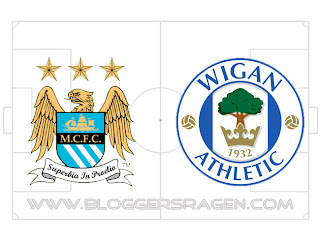 Pertandingan Manchester City vs Wigan Athletic