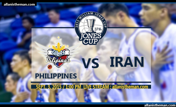 Jones Cup 2015: Gilas Philippines vs Iran FREE LIVE STREAMING