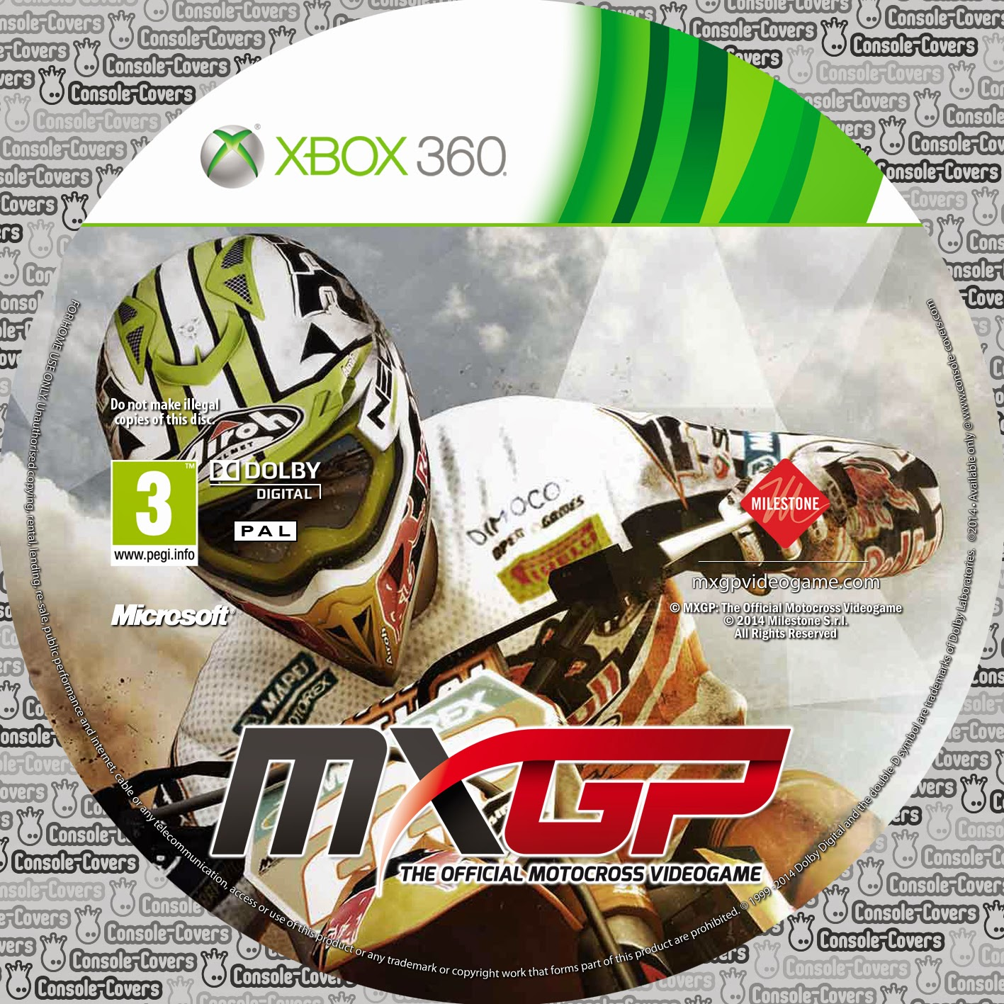 Label MXGP The Official Motocross Videogame Xbox 360