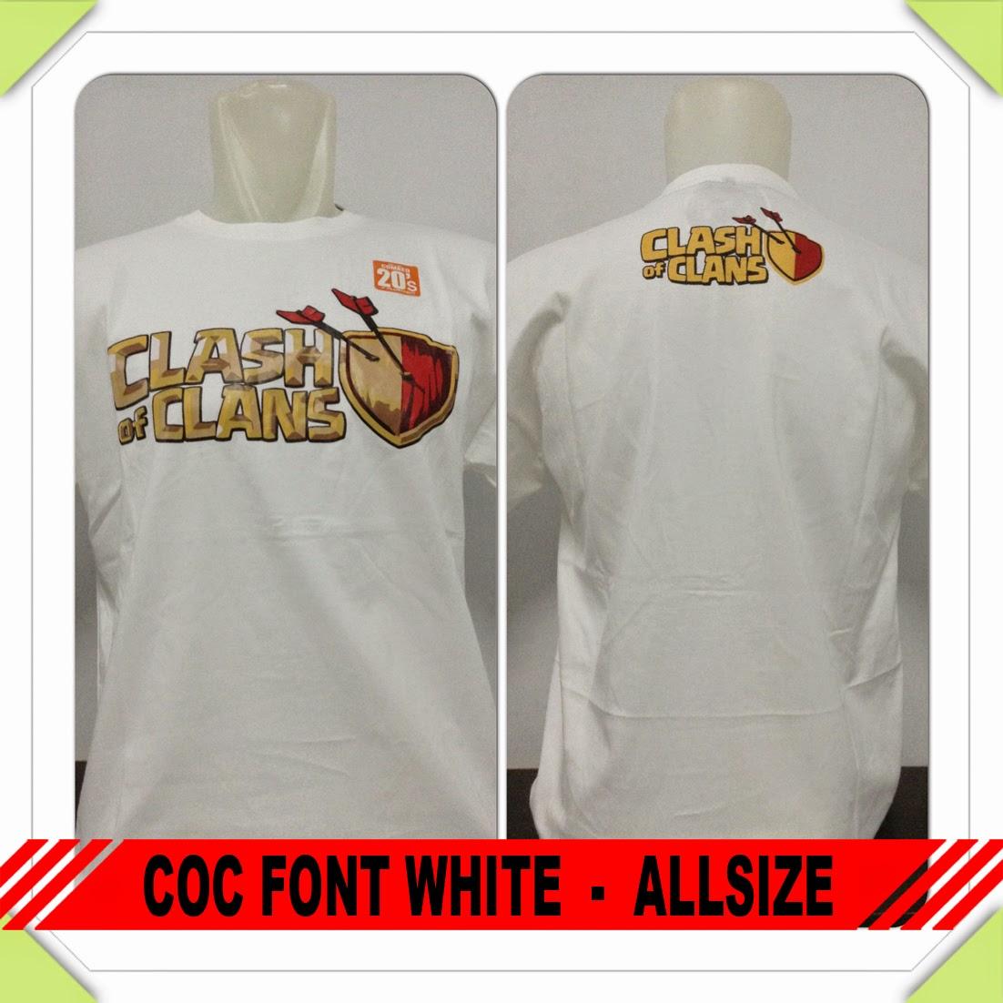 Baju COC Font White