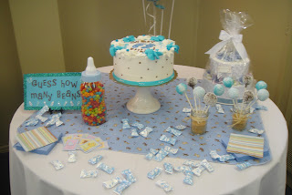 cake cake pops diaper cake guess the jelly beans and baby feet mints
