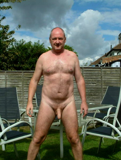 Hairy nude older men