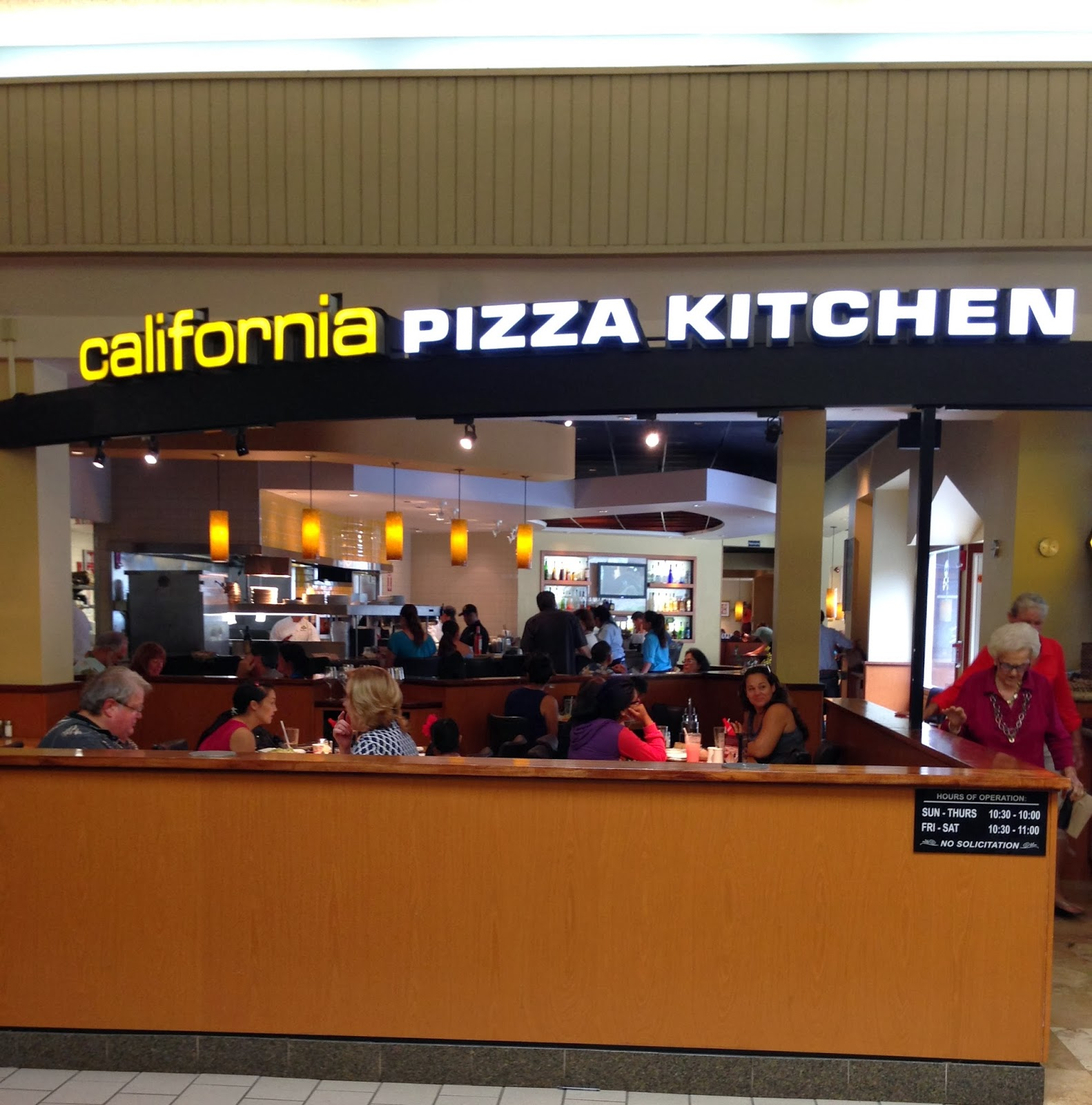 California Pizza Kitchen Kahala Menu