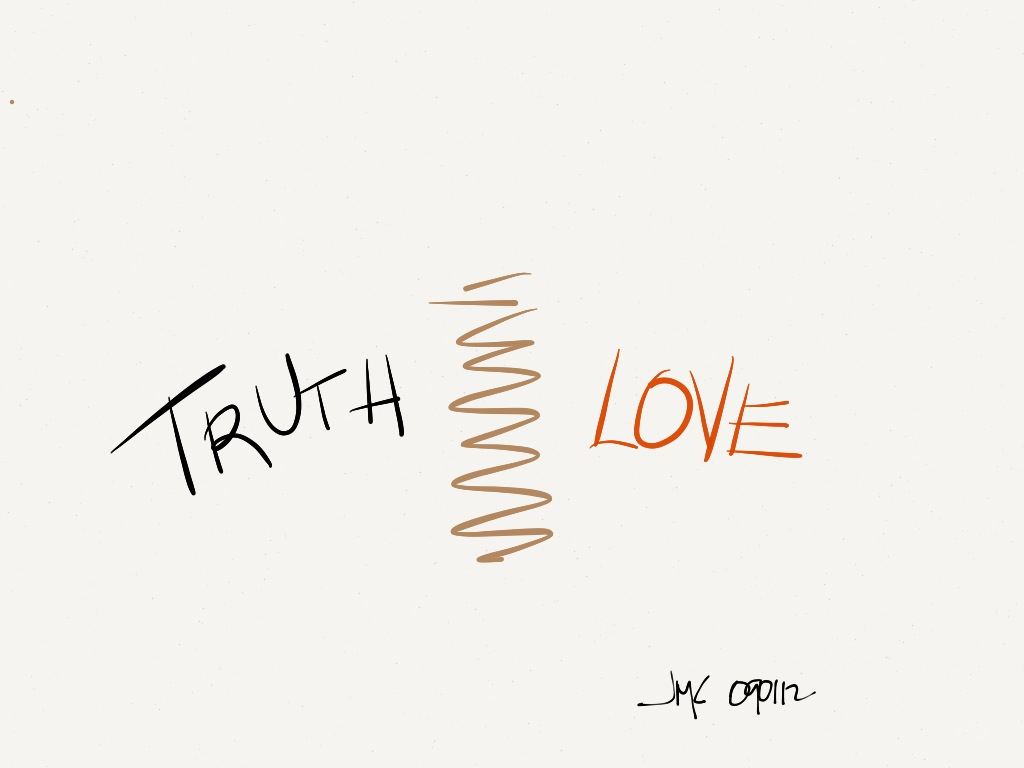 Is it right to separate love and truth.  Why?  Why not?