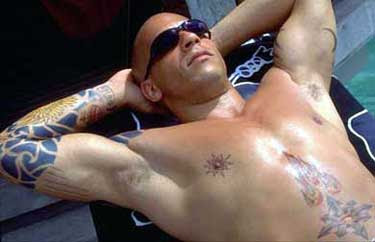free tattoos articles vin diesel tattoo pictures