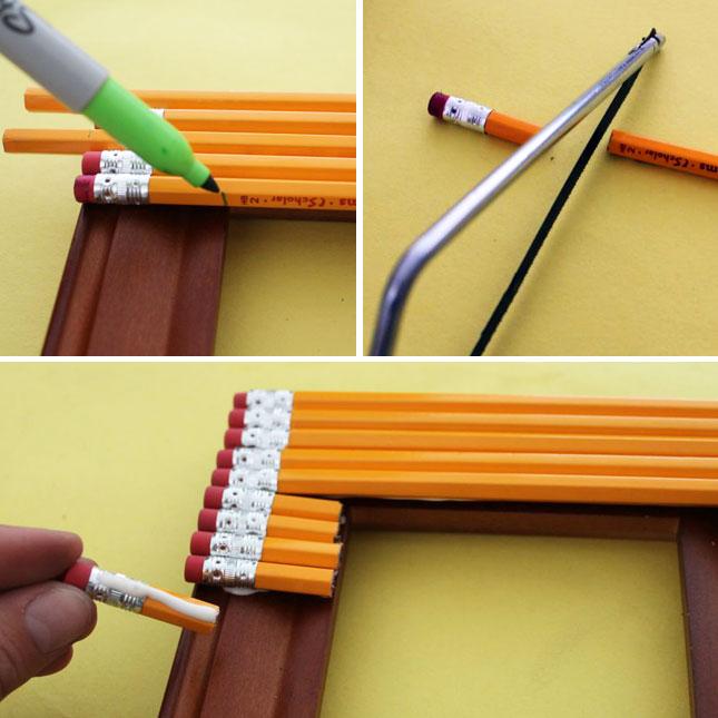 Рамка своими руками из карандашей