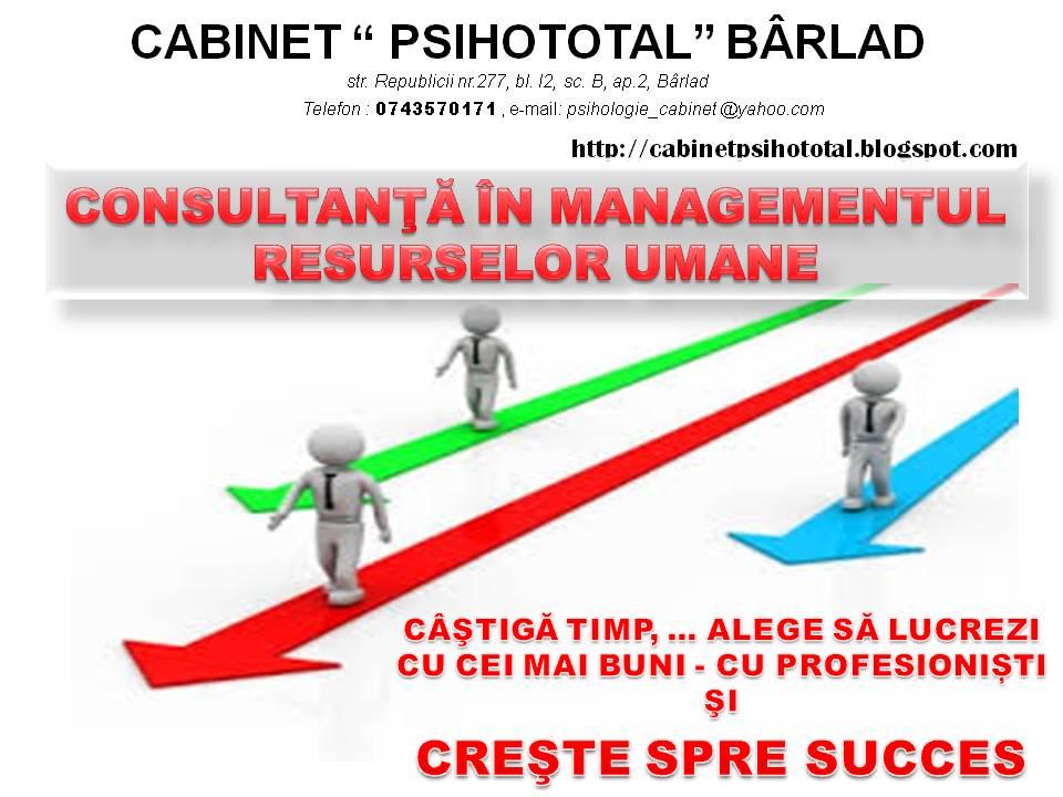 CONSULTANTA în managementul resurselor umane