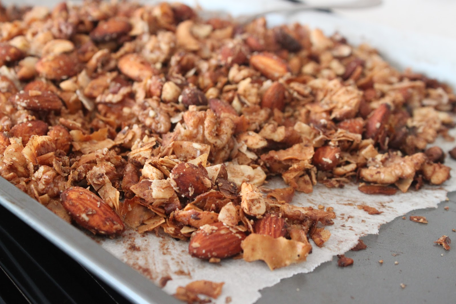 coconut almond walnut granola 1 cup of coconut flakes or
