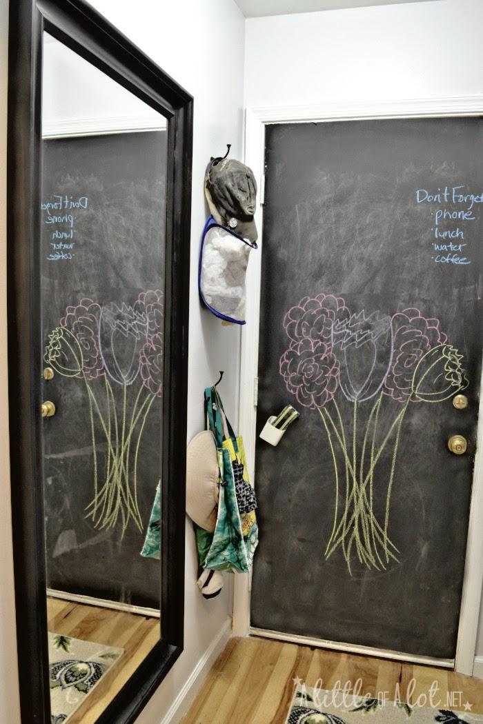 chalkboard painted door