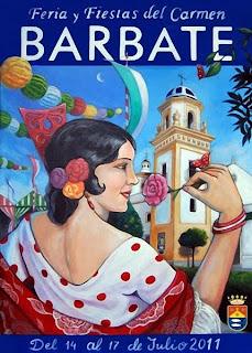 Barbate - Cartel feria Carmen 2011 - Javier Ventura Nuñez
